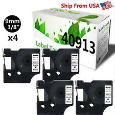 4 Pk 40913 Label Tape S0720680 For Dymo Label Maker Rhinopro 420052006000