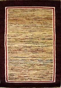 Rugstc-4x6-Senneh-Gabbeh-Multicolor-Area-de-Alfombra-Vegetal-Tinte