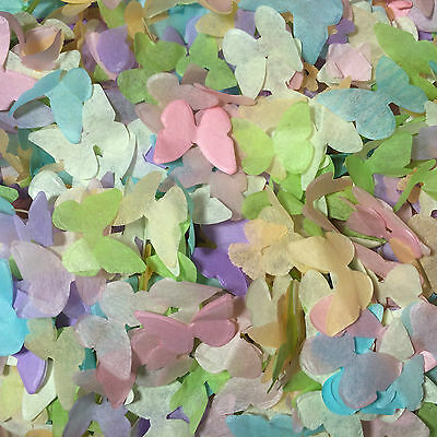 Biodegradable Confetti Vintage Wedding Butterfly Mix Pink Ivory Purple Yellow