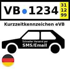Kurzzeitkennzeichen Versicherung eVB PKW 5 Tage DE SMS/@