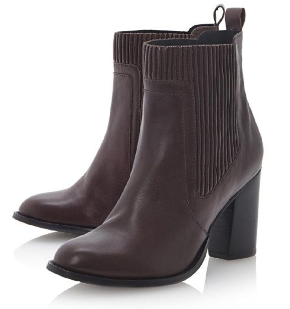 Dune Ladies NATTIES Pleated Pleated Pleated Panel Heeled Ankle Boot in Burgundy UK 7  EU 40 b30d56