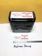 Return To Sender With Hand Rubber Stamp Self Inking Ideal 4913
