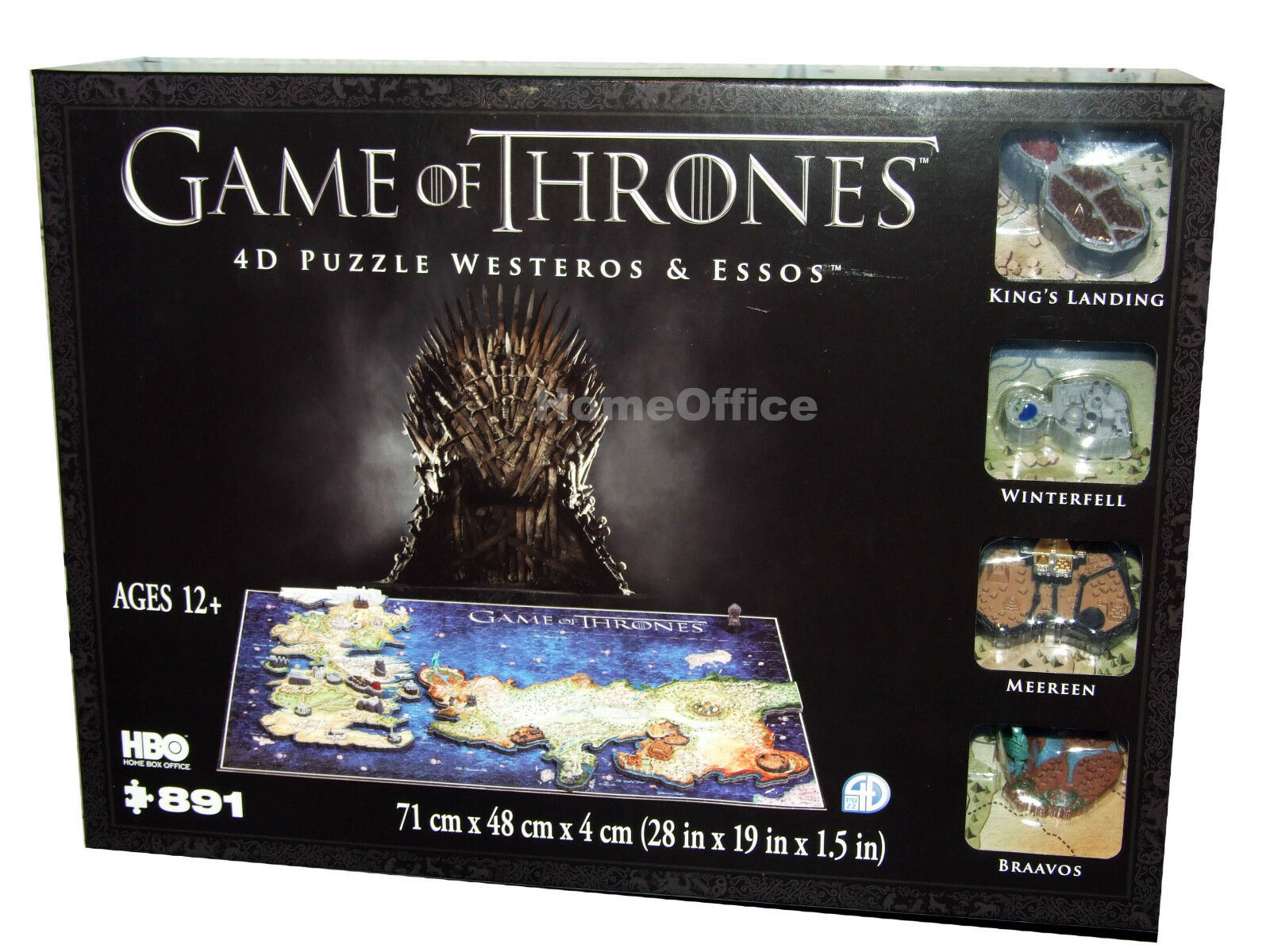 4D Cityscape HBO Game of Thrones Westeros And Essos Jigsaw Puzzle