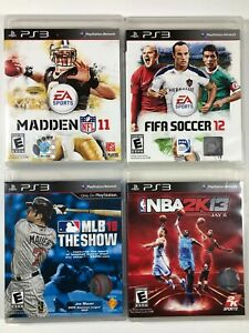 Lot-of-4-Playstation-3-PS3-Sports-Games-Madden-FIFA-Soccer-NBA2K-MLB