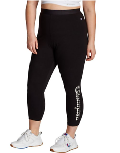 Vertical Shadow Logo Women/'s Plus Authentic 7//8 Leggings