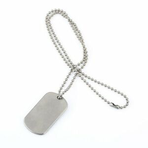 Pure-Titanium-Military-Army-Ball-Chain-Necklace-Titanium-Dog-Tag-Anti-Allergy