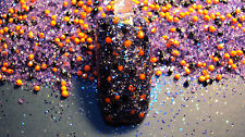 glitter mix acrylic gel nail art      HALLOWEEN MIX         * WITCHY  WOMAN *