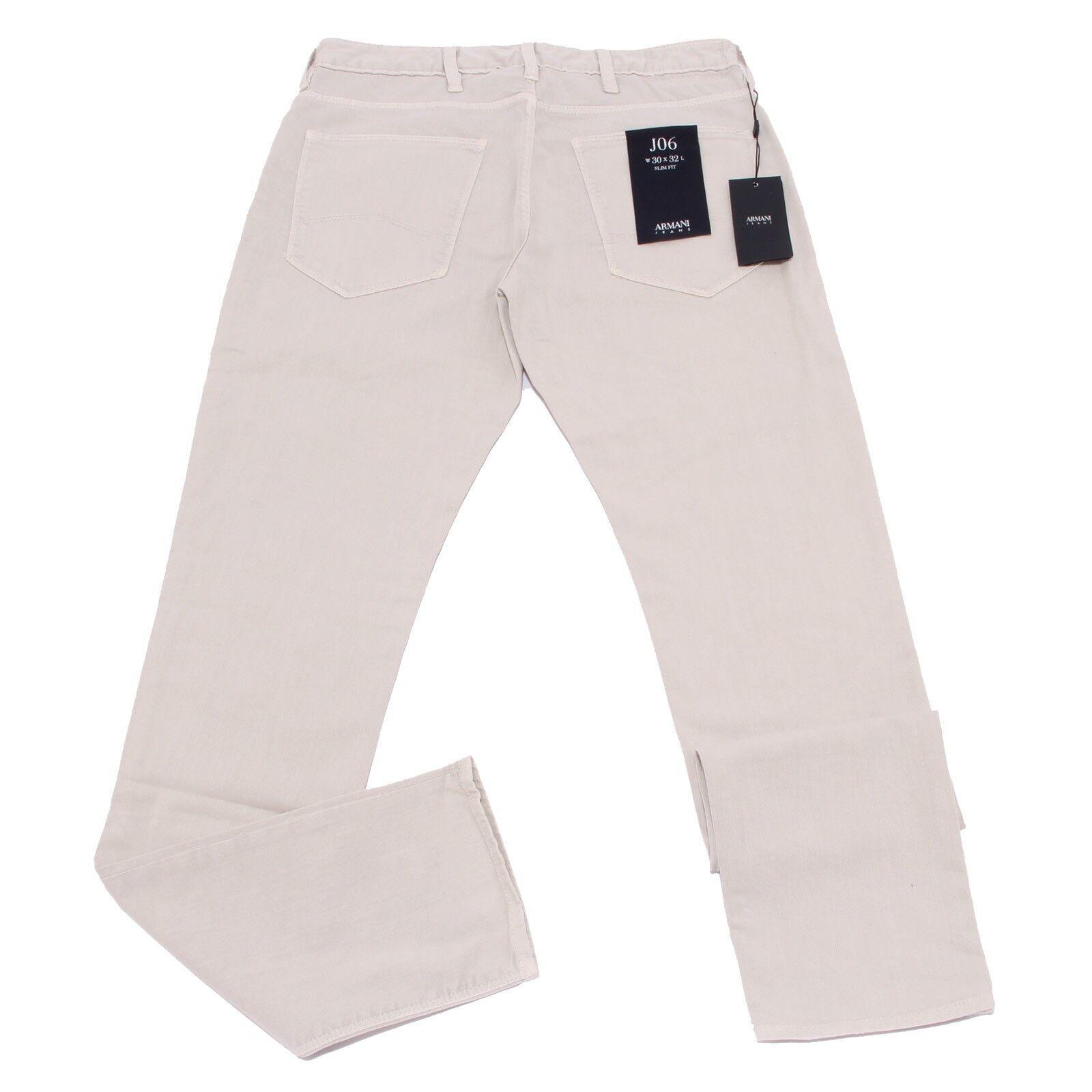 0986X jeans uomo ARMANI JEANS SLIM FIT J06 light grigio grigio grigio trouser men 9299b5