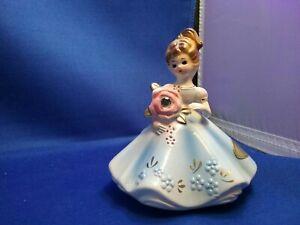 Vintage-Ceramic-Josef-Original-April-Birthstone-Diamond-Birthday-Blue-Dress