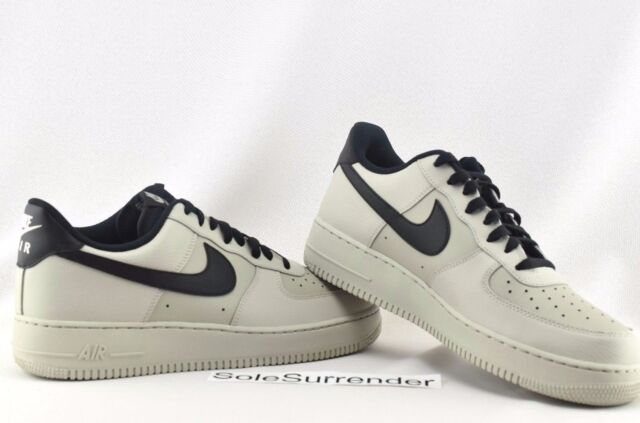 834a3d6e07171 Nike Air Force 1  07 Mens 315122-069 Pale Grey Black Low Leather ...