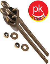 "Swing Set Hanger 6"" 3/8"" 2 Porch Seat Playground Hardware Wood  Ny-Glide SH-15"