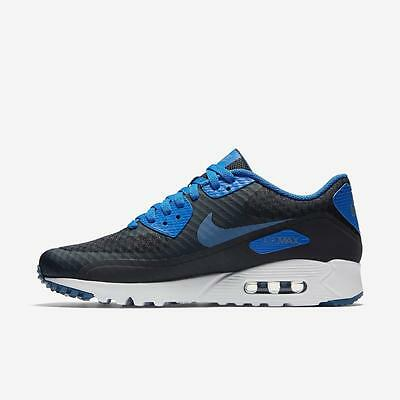 NIKE AIR MAX 90 ULTRA ESSENTIAL 819474 405 DARK OBSIDIANHYPER COBALT BLUE WHITE | eBay
