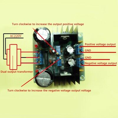 AC-DC LM317 LM337 Adjustable Regulated Power Supply Module Board DIY Kits