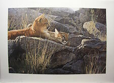 Terry ISAAC Afternoon Light Young Cougars LTD art print MINT in Folder A.P.