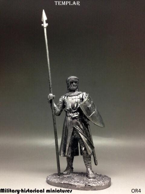 Templar, Tin toy soldier 54 mm, figurine, metal sculpture