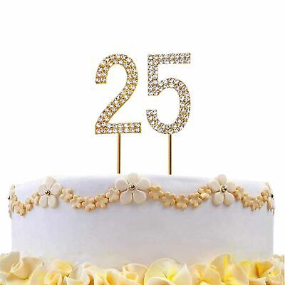 CRYSTAL RHINESTONE 40th BIRTHDAY CAKE TOPPER TABLE NUMBER MISSING DIAMONDS