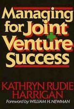 Managing for Joint Venture Success Kathryn Rudie Harrigan Hardcover