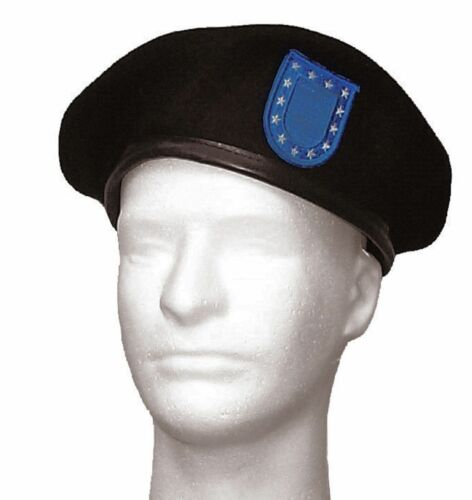 Inspection Ready Preshaved Black Beret with Flash US Military Army USAR Rothco