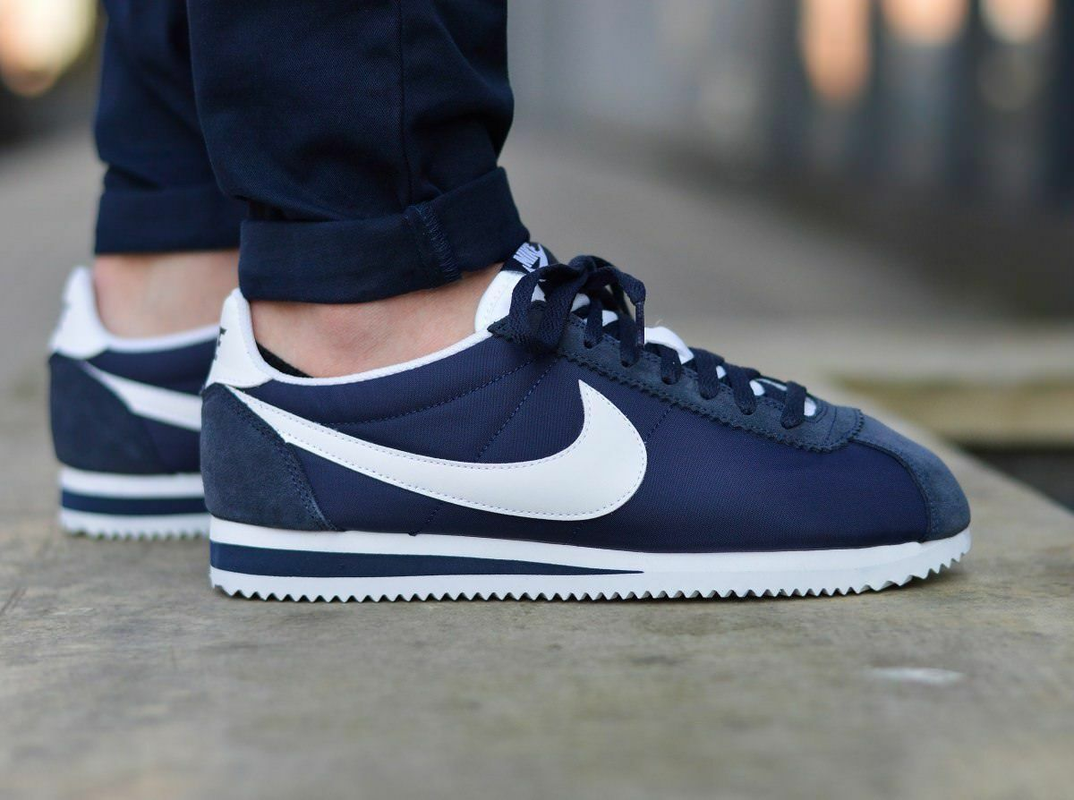 Comfortable and good-looking NIB NIKE MENS CLASSIC CORTEZ NYLON 807472 410 NAVY RUNNING CASUAL SHOES Price reduction