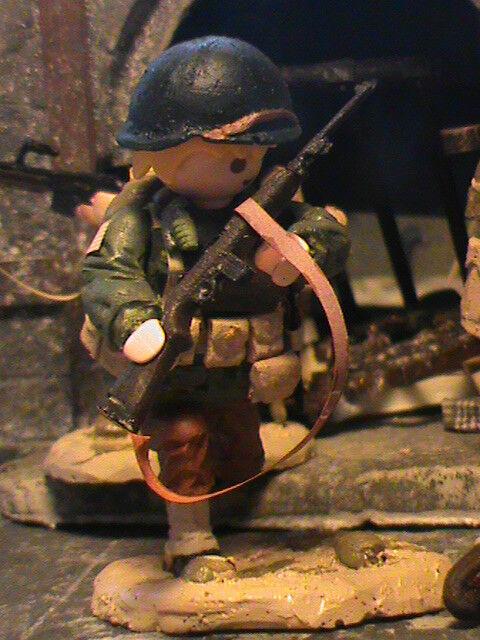 PLAYMOBIL CUSTOM   US 4TH  INFANTRY DIVISION (NORMANDIA-1944) REF-0232 BIS
