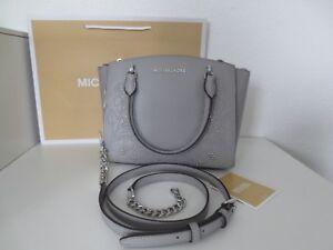 Details zu Michael Kors Tasche ELLIS SM SATCHEL ASH GREY Taschen Schultertasche Handtasche