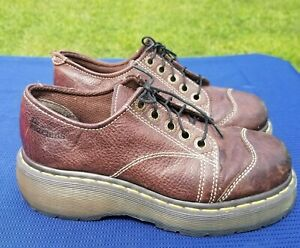dr doc martens 8651 woman's oxford shoes chunky platform