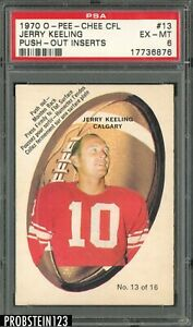 1970 O-Pee-Chee OPC CFL Football Push-Out #13 Jerry Keeling PSA 6 EX-MT