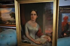 A Very special  Large  Museum Quality  Antique   Oil Painting