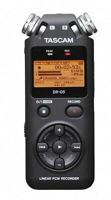TASCAM DR-05 Linear PCM Handheld Portable Digital Audio Recorder w/ 4 GB SD Card