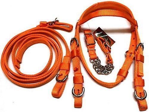 marque orange poly nylon Mini PONY Taille Complète Bridle Set Horse Tack D.A
