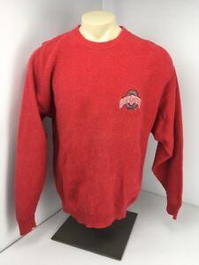 Vintage-Ohio-State-Buckeyes-Champion-CrewNeck-Sweater-Red-Mens-M-Knit-USA