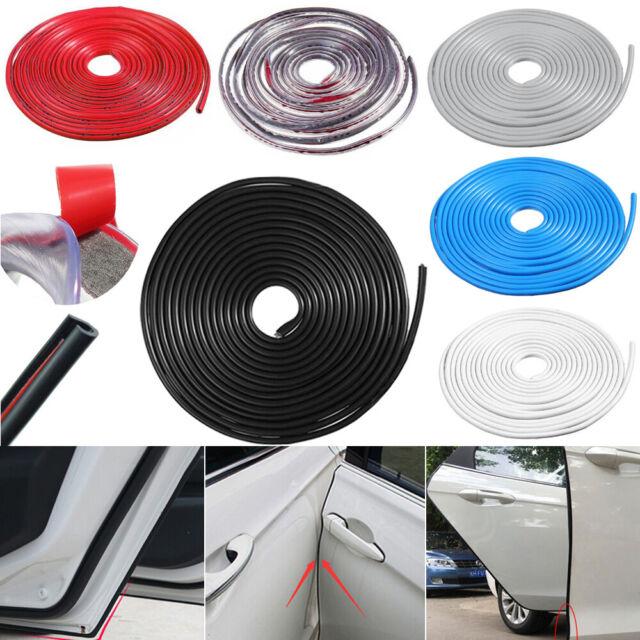 5M 16FT White Car Door Edge Protector Strip Scratch Guard Moulding Trim Cover