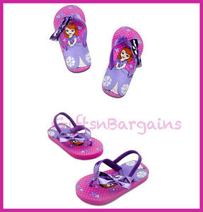 97929e904f687 Details about Disney Store Girl Sofia the First Sandal Flip Flops Beach  Thong Slipper 5-6 7-8