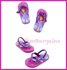 97929e904f687 Details about Disney Store Girl Sofia the First Sandal Flip Flops Beach  Thong Slipper 5-6 7-8