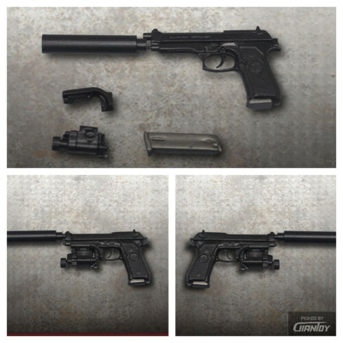 "M9 Gun Pistol Handgun Weapon Model F 12/"" Hot Body Toys ZYTOYS 1//6 ZY2009B"