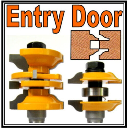 2 Pc 12 Sh Entry Interior Door Ogee Matched Rs Router Bit Set