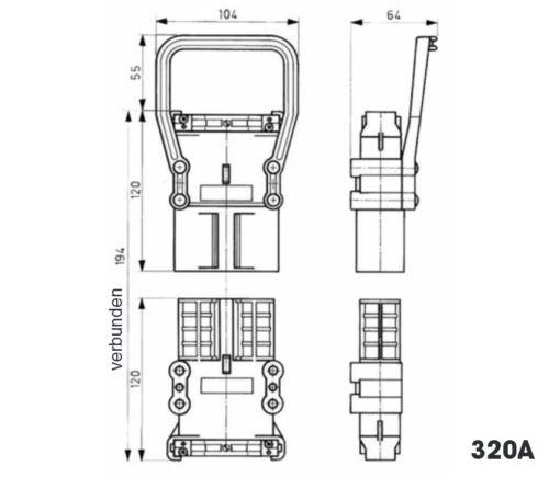 160a batería de carga lata carretillas elevadoras steckbuchse DC-los conectores o enchufes resistentes al ácido
