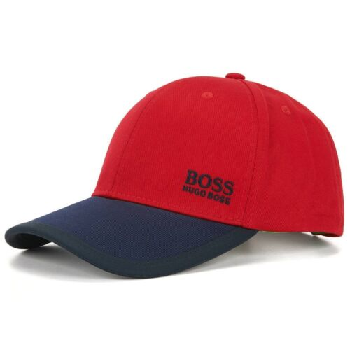 New Hugo Boss Men/'s Red White Adjustable Sport Cotton Twill Hat Cap 50330291