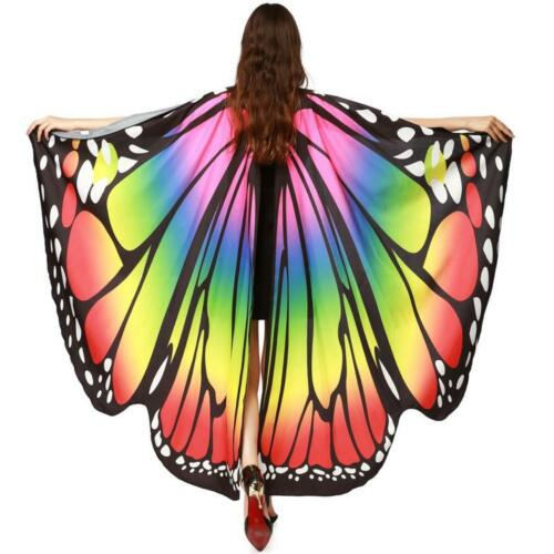 Butterfly Wings Shawl Scarves Fashion Nymph Pixie Poncho Party Costume Accessory