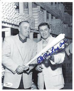 BRAVES-Johnny-Logan-signed-8x10-photo-w-Duke-Snider-JSA-COA-AUTO-Autographed