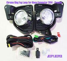 Chrome Ring Fog Lamp Spot light For TOYOTA HIACE Commuter H200 2014 2015 2016 ON