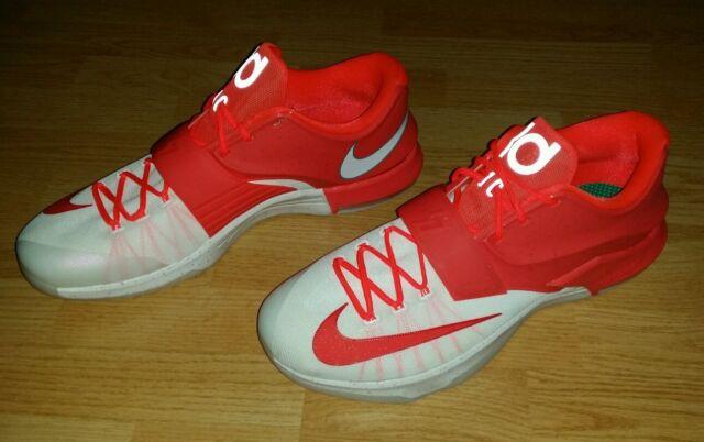 new arrival 8a1f8 2b5f2 Men's Nike Big & Tall KD 7 VII Egg Nog Christmas Kevin Durant Shoes 17  (BT-2)