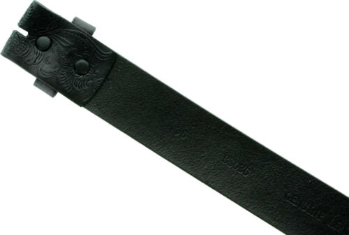 "Casual Jean Belt Genuine Full Leather Embossed Belt Strap 1-1//2/"" wide Snap on"