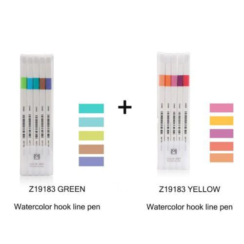 Creative Cute Simple Small Fresh Gel Pen Quick Drying Cap Neutral Pens 6pcs//set