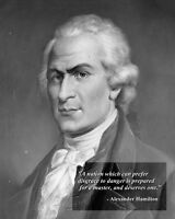 8x10 Photo: Founding Father Alexander Hamilton With Famous Quote