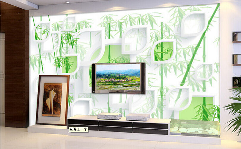 3D Green Bamboo Leaves 6541 Paper Wall Print Wall Decal Wall Deco Indoor Murals