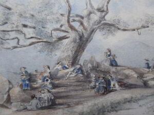 PICNIC-BRADGATE-PARK-LEICESTER-ARTIST-J-E-HODGKIN-1851-FREE-SHIPPING-TO-ENGLAND