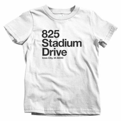UI Hawkeyes City Baby Toddler Youth Tee Iowa Football Stadium Kids T-shirt