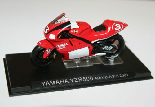 Motorcycle Model Scale 1:24 IXO YAMAHA YZR500 Max Biaggi 2001