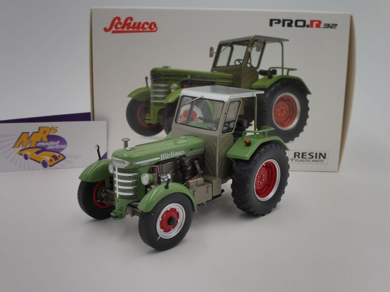 Schuco Schuco Schuco 09044 Hürlimann D 200 S m. Dach Traktor Bj. 1967 in   green   1 32 NEU f5f649
